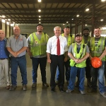 Congressman Jamie Comer visited R. J. Corman's South Union Distribution Center